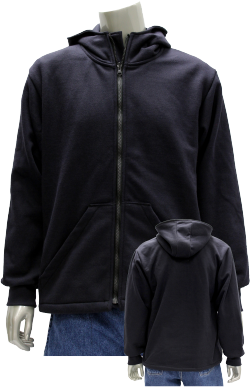 Modacrylic Fleece Full Zip Hoodie